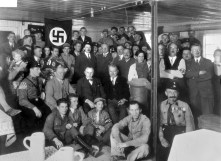 Hitler and NSDAP treasurer Franz Xaver Schwarz at the dedication of the renovation of the Palais Barlow on Brienner Straße in Munich into the Brown House headquarters, December 1930.
