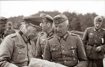 Brandenburger and von Manstein going over plans during Barbarossa.