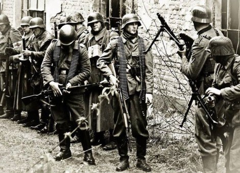 German soldiers at the beginning of the invasion of Poland in September 1939.