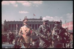 Hitler during the parade celebrating the Legion Condor on its return from Spain.
