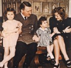 Adolf Hitler with Eva Braun and children.