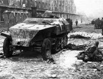 Knocked Out Sd.Kfz.250 of Swedish SS Volunteer in Berlin.