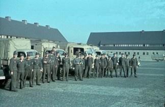 Luftwaffe with their trucks in Warsaw.