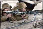 October 1941 MG34 troop of the Leibstandarte SS Adolf Hitler.