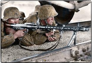 October 1941 MG34 troop of the Leibstandarte SS Adolf Hitler.