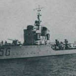 Italian torpedo boat Sagittario.