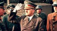 Adolf Hitler with Generalfeldmarschall Wilhelm Keitel (left) and Reichsminister Albert Speer (right).