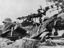 MG-34 at the firing position during operation Allied Normandy (Operation 'Overlord').
