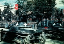 Hitler Reviewing the German Victory Parade in Warsaw.