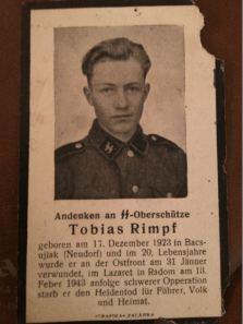 R.I.P. Soldiers of the Fatherland, Tobias Rimpf from Neudorf ( Bačko Novo Selo ), Vojvodina, Serbia.