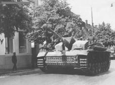 StuG III of the Sturmgeschütz Brigade 303 in LappeenrantaFinland late june 1944.