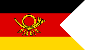 1950–1994 Flag of the German Post President. A swallowtail variant of the postal flag.