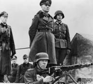 Rommel inspecting the Atlantic Wall.