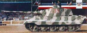 Working Tiger II demonstration at the Musée des Blindés, (France) arena.