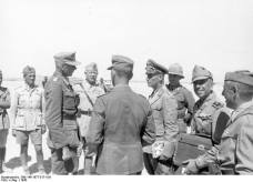 Rommel with German and Italian officers, 1942.