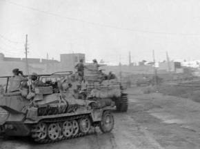 The Afrika Korps enters Tobruk.