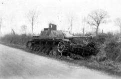 A StuG IV destroyed and abandoned in Normandy, 1944.