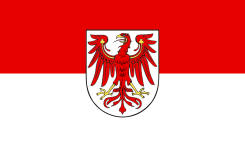 State service flag of Brandenburg