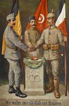 WW1 Austro-Hungarian post cards, Austro-Hungarian, German, and Turkish friendship.