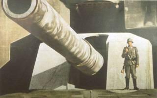 Giant battery at Atlantik Wall.