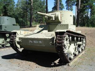 A T-26, Ps.163-16, on display at the Parola Tank Museum - Finland.