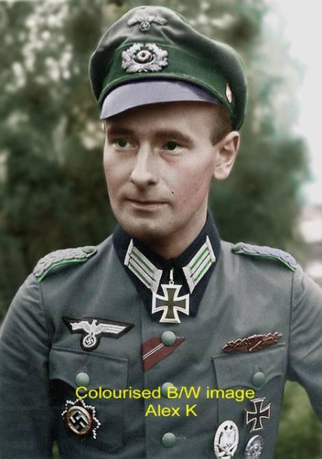 Heinrich Ruhl as a Major before receiving Eichenlaub.
