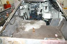 Someone filled the engine area with cement.