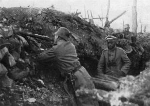 German troops at Verdun in 1916.