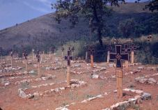 A German graveyard along the Esperia Road, photographed during the Allied drive towards Rome, World War II.