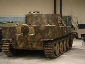 Rear End of the Tiger 1 at the Musée des Blindés - Tank Museum - France.