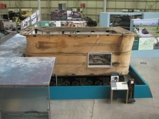 Sherman DD tank showing canvas flotation screen.