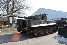 Tiger 1 being moved to a new home at the Deutsches Panzermuseum - German Tank Museum.