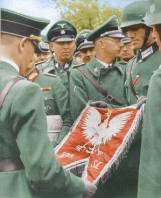 Flag of the Polish 303 'Kosciuszko' Fighter Squadron in german hands.