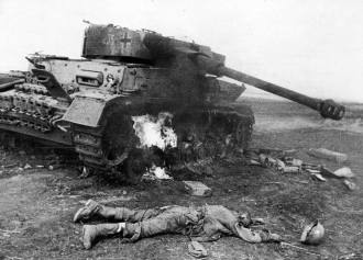 Knocked out Panzer IV.