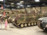 Panzer IV with the Tiger 1 behind it at the Musée des Blindés - Tank Museum - France.