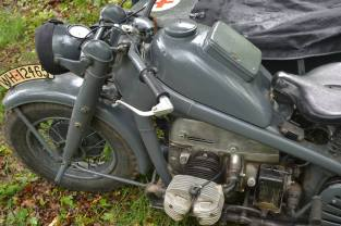 Medical Zündapp KS750 Motorcycle.