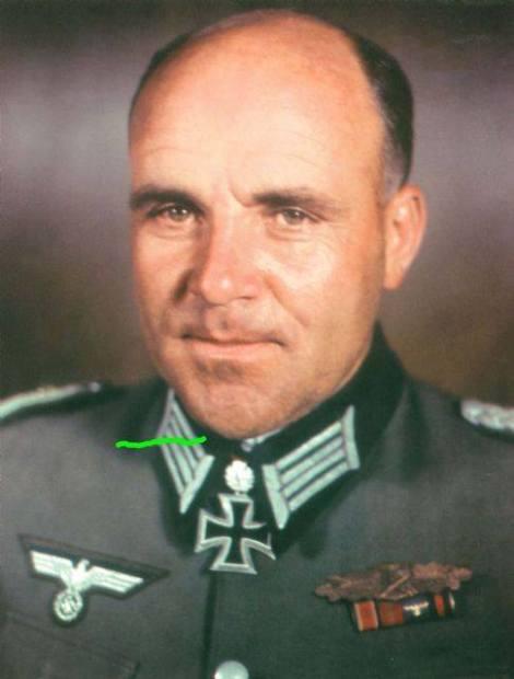 Max Sachsenheimer after receiving Eichenlaub (Oak Leaves).