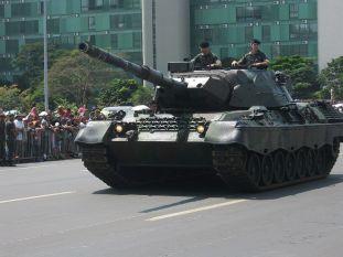 Brazilian Army Leopard 1A5 tank.