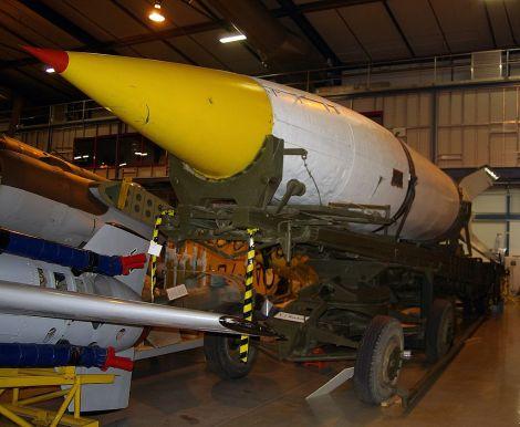 V-2 rocket located at the Australian War Memorial Treloar Centre Annex.