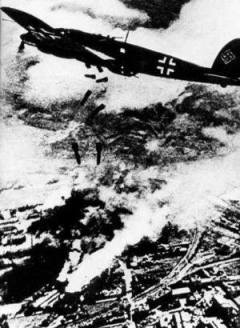 Luftwaffe bombing Warsaw.