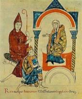 Henry IV begging Matilda of Canossa.