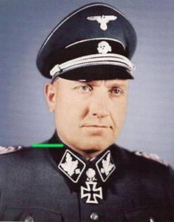 Hermann Prieß as SS-Gruppenführer wearing Schwerter.