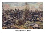 French post card. Austrians at Lemberg on the Russian front.