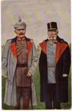 WW1 Austro-Hungarian post cards, and Kaiser Wilhelm II and Franz Joseph of Austria.