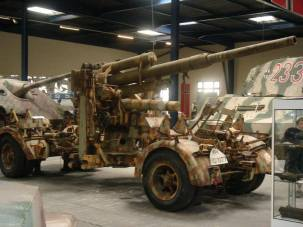 88 Flak/Anti-Tank Gun at the Musée des Blindés - Tank Museum - France.