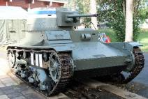 Finnish Vickers 6-ton tank with 37mm Bofors, on display at the Parola Tank Museum - Finland.