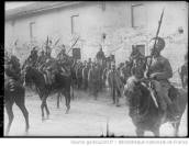 Captured Austrian soldats by Italian cavalry during WW1.