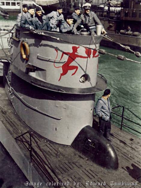 U-552 and her Captain Erich Topp.