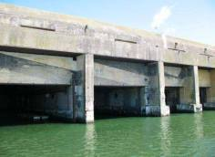 Former U-Boat Pens located in France.
