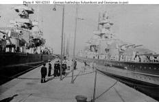 Battleships Scharnhorst and Gneisenau.